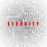 在词拼贴画的安全信息 免版税库存照片