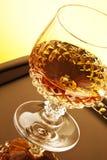 在词根玻璃的威士忌酒 库存图片