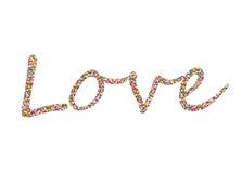 在词爱的五颜六色的五彩纸屑 排行信件 2007个看板卡招呼的新年好 库存照片