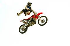 在试验展示的极端自行车跃迁 库存照片