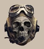 在试验盔甲的头骨 T恤杉印刷品 皇族释放例证