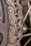 在详细的图象的摩托车链子 免版税图库摄影