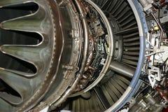 在详细资料引擎被查看的喷气机大之下 库存图片