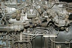在详细资料引擎被查看的喷气机大之&# 免版税库存照片