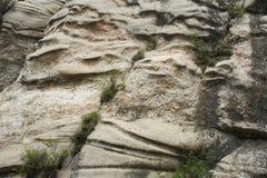 在详细资料的砂岩的纹理 库存照片