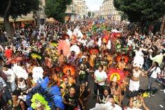 在诺丁山狂欢节的人群 免版税图库摄影