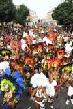 在诺丁山狂欢节的人群 免版税库存照片