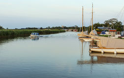 在诺福克Broads的划船 免版税库存照片