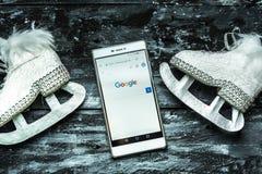 在谷歌中搜寻任何信息 免版税库存照片