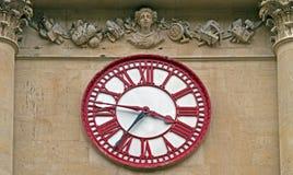 在谷物交易所的时钟在布里斯托尔,英国 免版税库存照片
