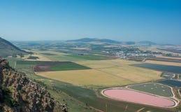 在谷的全景从山土坎 免版税图库摄影
