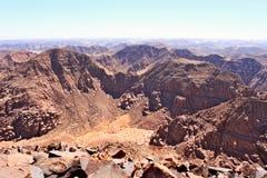 在谷的全景在从山Jebel Adaami的沙特阿拉伯 免版税库存照片