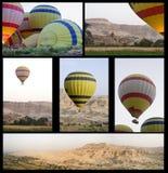在谷的气球 免版税库存图片