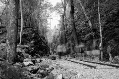 在谷第二次世界大战的山历史的严酷的苦难通行证 库存图片