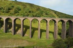 在谷Cumbria的高架桥 免版税图库摄影