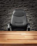 在豪华办公室企业概念的行政椅子 免版税库存照片