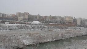 在贝内文托的降雪 股票视频