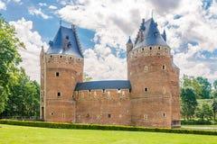 在贝尔塞尔城堡的看法在比利时 免版税图库摄影