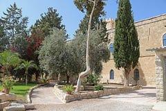 在贝特谢梅什附近的拜特Jimal或拜特贾迈勒宽容修道院 免版税库存图片