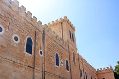 在贝特谢梅什附近的拜特Jimal或拜特贾迈勒宽容修道院 库存图片