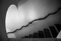 在贝纳宫殿里面在辛特拉,里斯本区,葡萄牙 螺旋形楼梯 免版税库存图片
