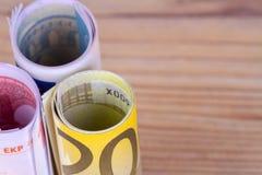在财务的财务资助现金欧洲钞票 图库摄影