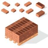 在货盘的砖 向量例证