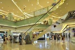 在购物中心购物视图里面的北京 免版税库存图片