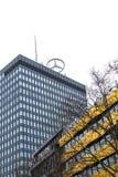 在购物中心` Europacenter `的上面的看法与`奔驰车`星的  免版税图库摄影