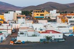 在费埃特文图拉岛海岛,西班牙上的小渔村Ajuy 图库摄影