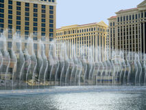在赌博娱乐场浇灌显示在拉斯维加斯在内华达美国 免版税图库摄影
