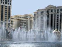 在赌博娱乐场浇灌显示在拉斯维加斯在内华达美国 免版税库存照片