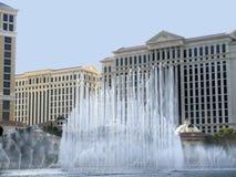在赌博娱乐场浇灌显示在拉斯维加斯在内华达美国 库存图片