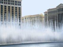 在赌博娱乐场浇灌显示在拉斯维加斯在内华达美国 免版税库存图片