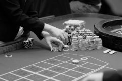 在赌博娱乐场-肾上腺素仓促放松 免版税库存照片