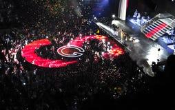 在Selena戈麦斯音乐会的结局-多伦多 库存图片