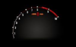 在赛车的车头表标志 免版税图库摄影