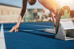 在赛马跑道的Sprint开始 免版税图库摄影