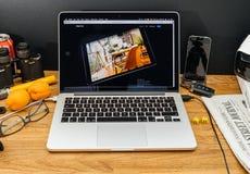 在赞成iPad的WWDC最新的公告的苹果电脑 图库摄影