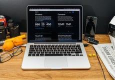 在赞成iPad的WWDC最新的公告的苹果电脑 免版税图库摄影