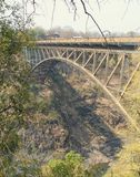 在赞比西河的桥梁 免版税库存照片