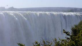 在赞比西河的瀑布维多利亚, Zimbabve,非洲 免版税库存照片