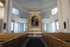 在赫尔辛基大教堂的内部 免版税图库摄影