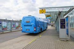 在赫尔辛基机场附近的区域 免版税库存图片