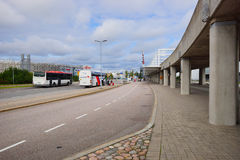 在赫尔辛基机场附近的区域 库存照片