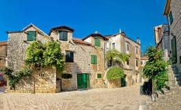 在赫瓦尔岛海岛街道上的Stari毕业 免版税库存照片