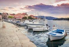 在赫瓦尔岛海岛,克罗地亚上的Stari毕业 免版税图库摄影