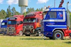 在赫马展示的卡车艺术在洛伊马,芬兰 库存照片