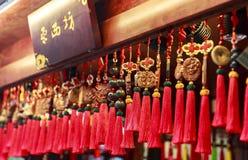 在走的街道的纪念品在成都,中国 库存照片