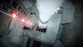在起动动画前的火箭队 空间发射系统 现实4K动画 向量例证